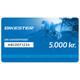 Bikester Gavekort 5000 kr.